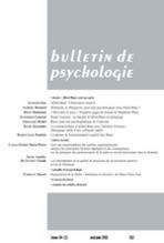 Bulletin de psychologie 2011/6