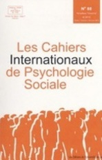 Les cahiers internationaux de psychologie sociale 2010/1