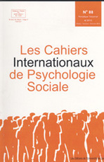 Les cahiers internationaux de psychologie sociale 2011/1-2