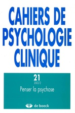 Cahiers de psychologie clinique 2003/2