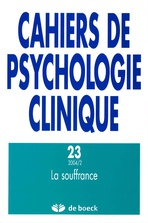 Cahiers de psychologie clinique 2004/2