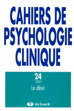 Cahiers de psychologie clinique 2005/1