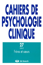 Cahiers de psychologie clinique 2006/2