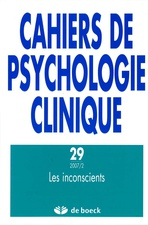 Cahiers de psychologie clinique 2007/2