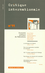 Critique internationale 2001/2