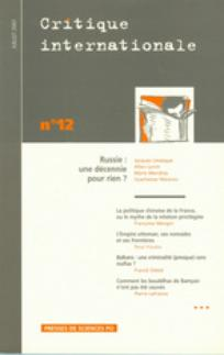 couverture de Critique internationale 2001/3