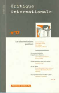 couverture de Critique internationale 2002/4