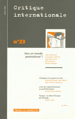 Critique internationale 2004/2