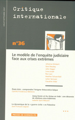 Critique internationale 2007/3