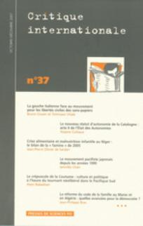 couverture de Critique internationale 2007/4