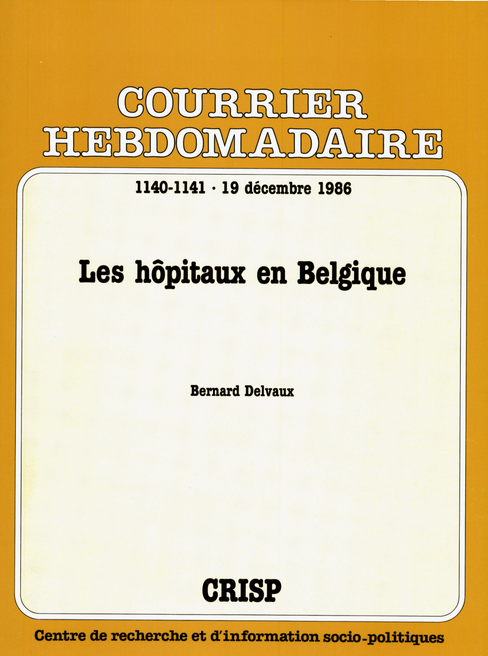 Les hôpitaux en Belgique | Cairn.info