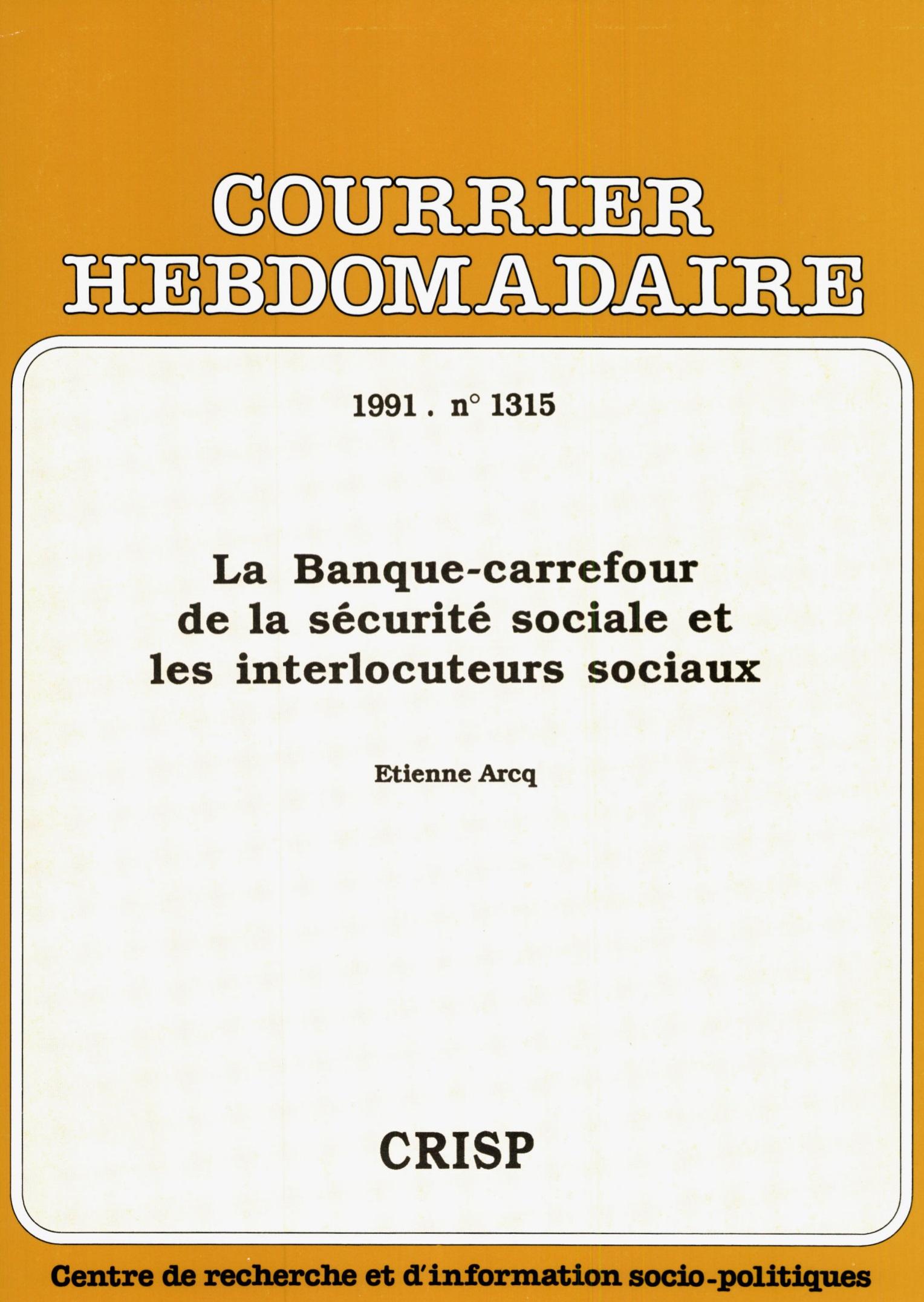 La Banque Carrefour De La Sécurité Sociale Et Les