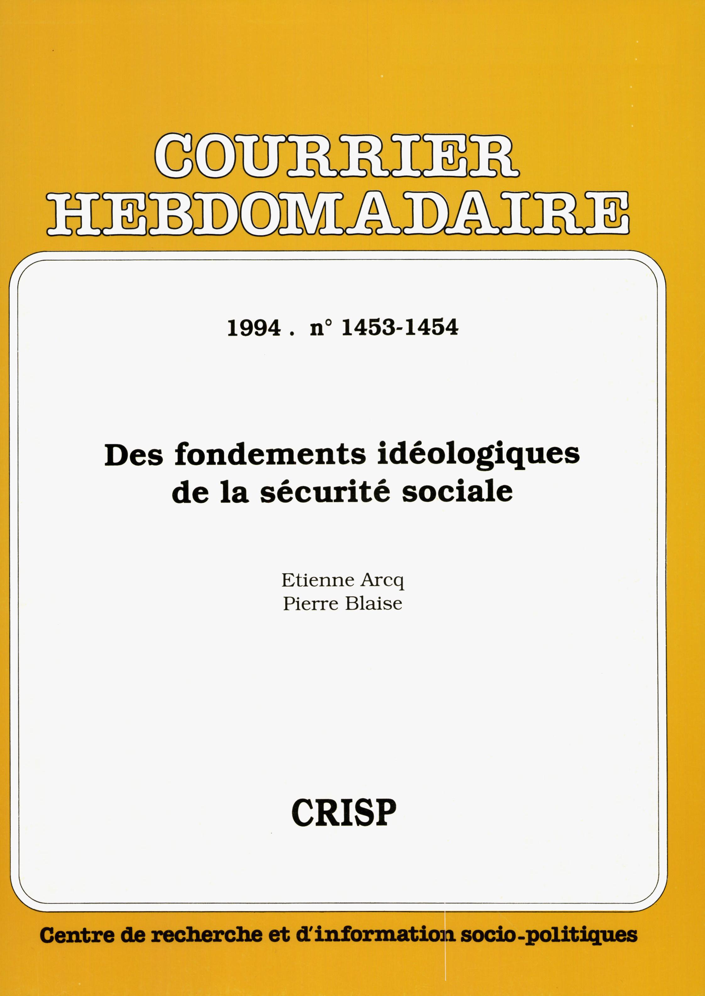 fabc064fe1c Des fondements idéologiques de la sécurité sociale 1944-1960