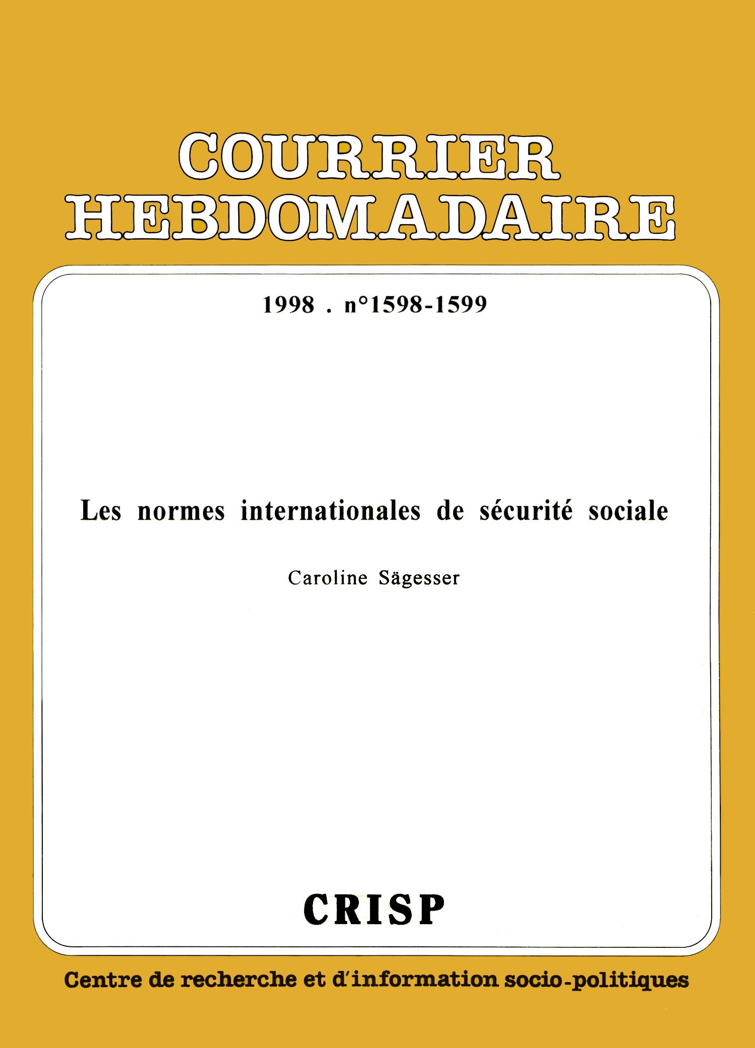 31efde3fd65 Les normes internationales de sécurité sociale