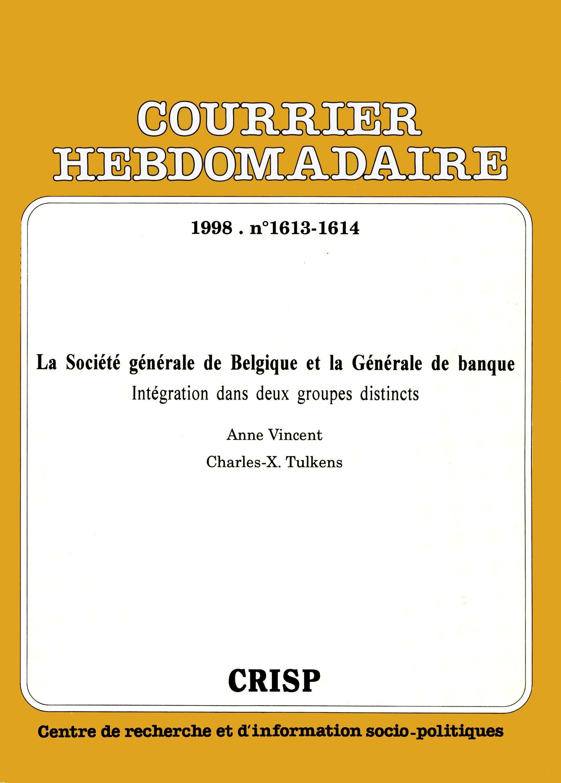 La Societe Generale De Belgique Et La Generale De Banque Cairn Info