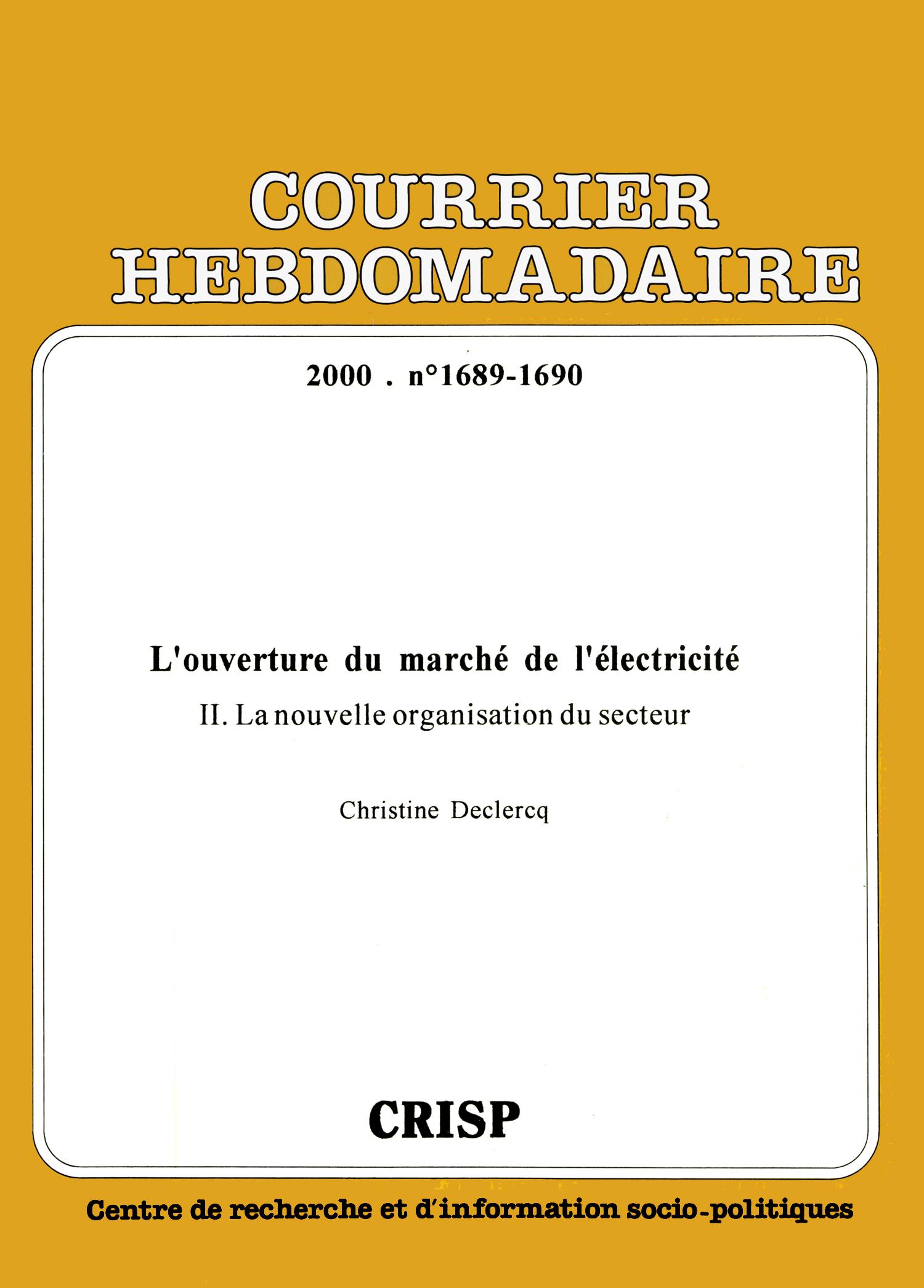 Etude De Marche Artisan Electricien l'ouverture du marché de l'électricité | cairn