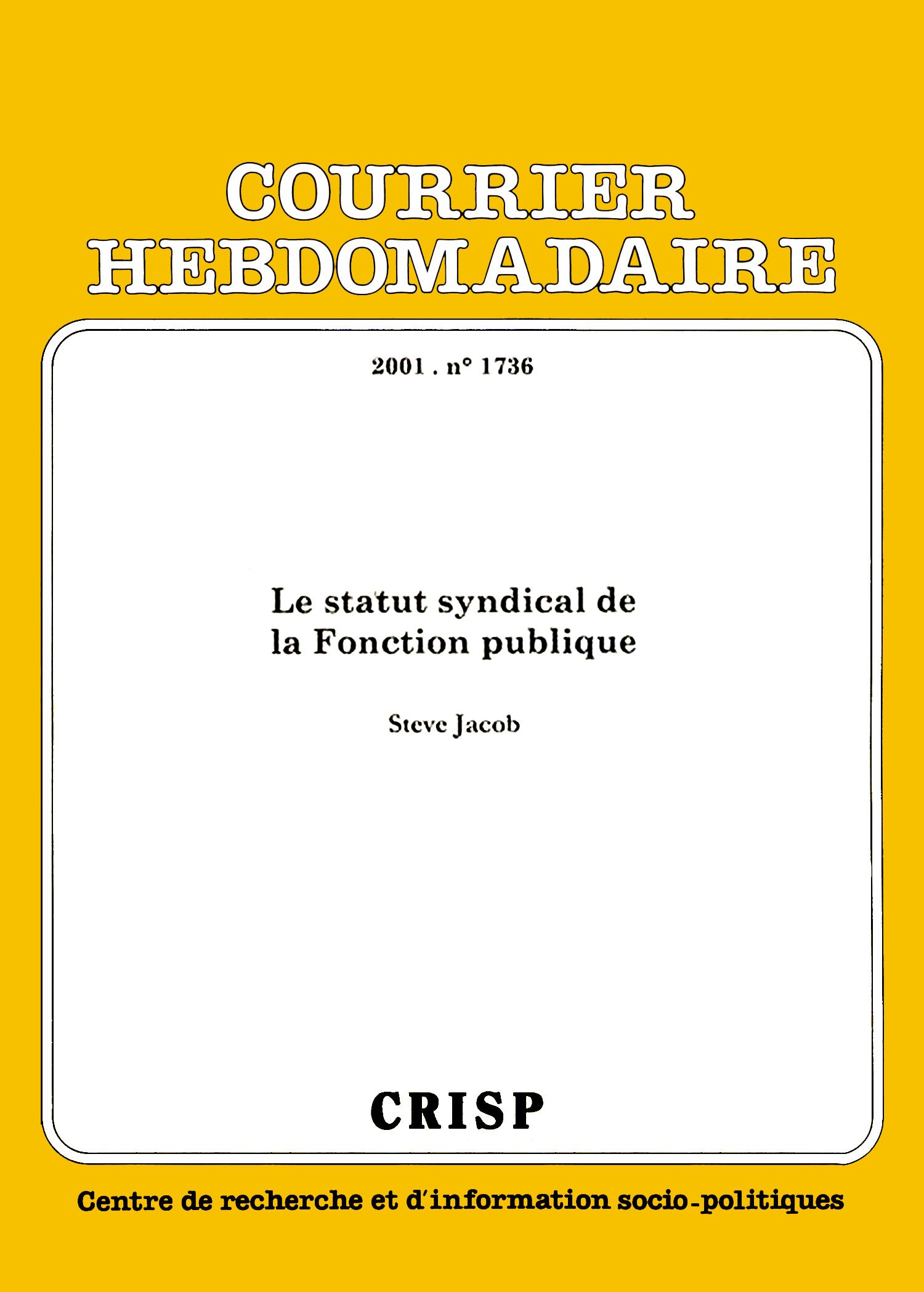 62705dcb311 Le statut syndical de la fonction publique