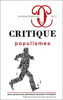 couverture de Critique 2012/1-2
