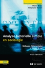 Analyse factorielle simple en sociologie