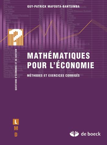 algebre mathematiques pour economistes