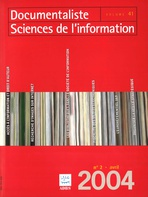Documentaliste-Sciences de l'Information 2004/2