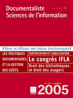 Documentaliste-Sciences de l'Information 2005/4-5