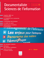 Documentaliste-Sciences de l'Information 2006/1