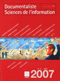 Documentaliste-Sciences de l'Information 2007/3