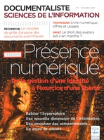 Documentaliste-Sciences de l'Information 2010/1