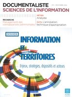 Documentaliste-Sciences de l'Information 2012/4
