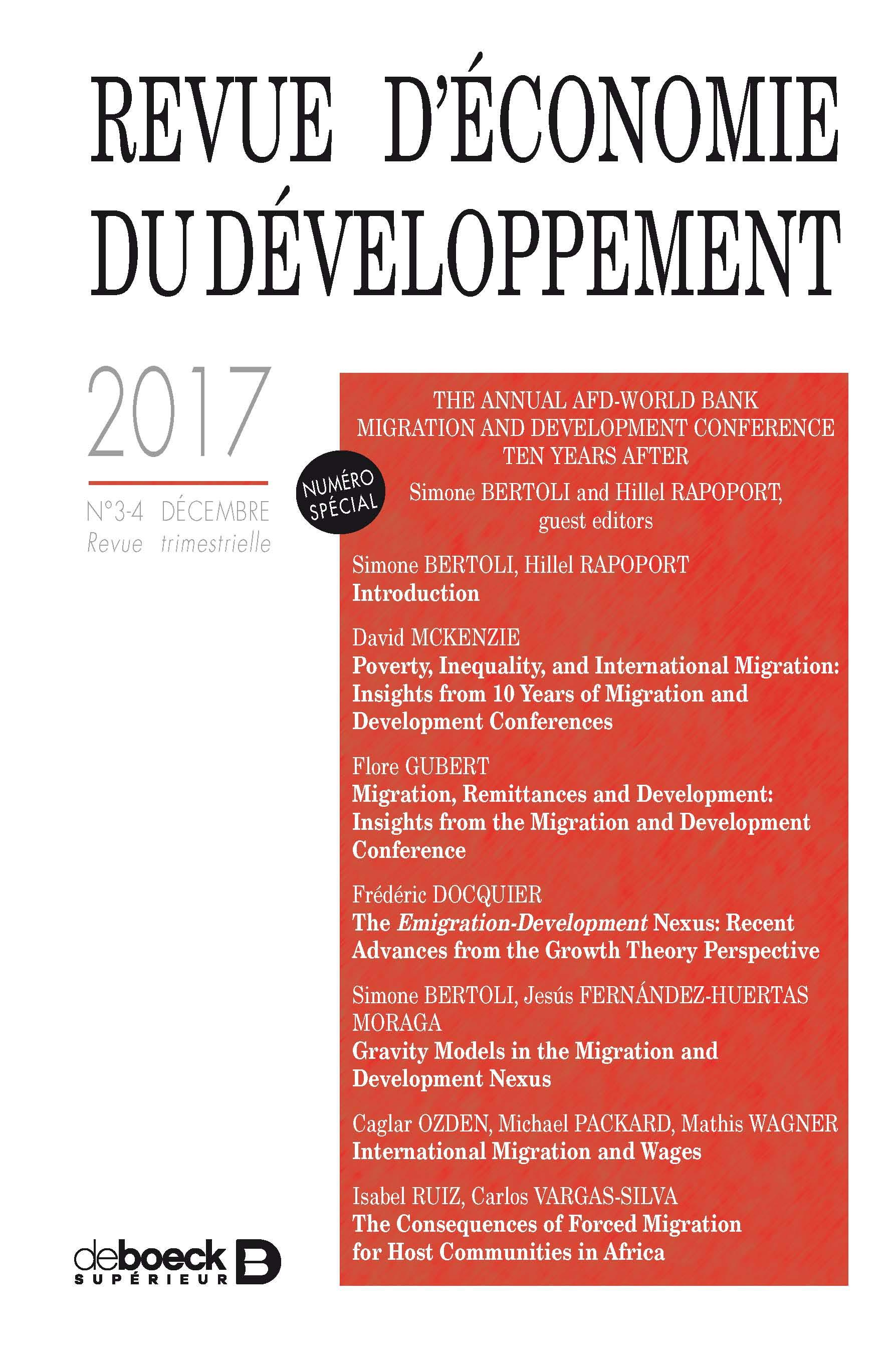 The Emigration-Development Nexus: Recent Advances from the Growth