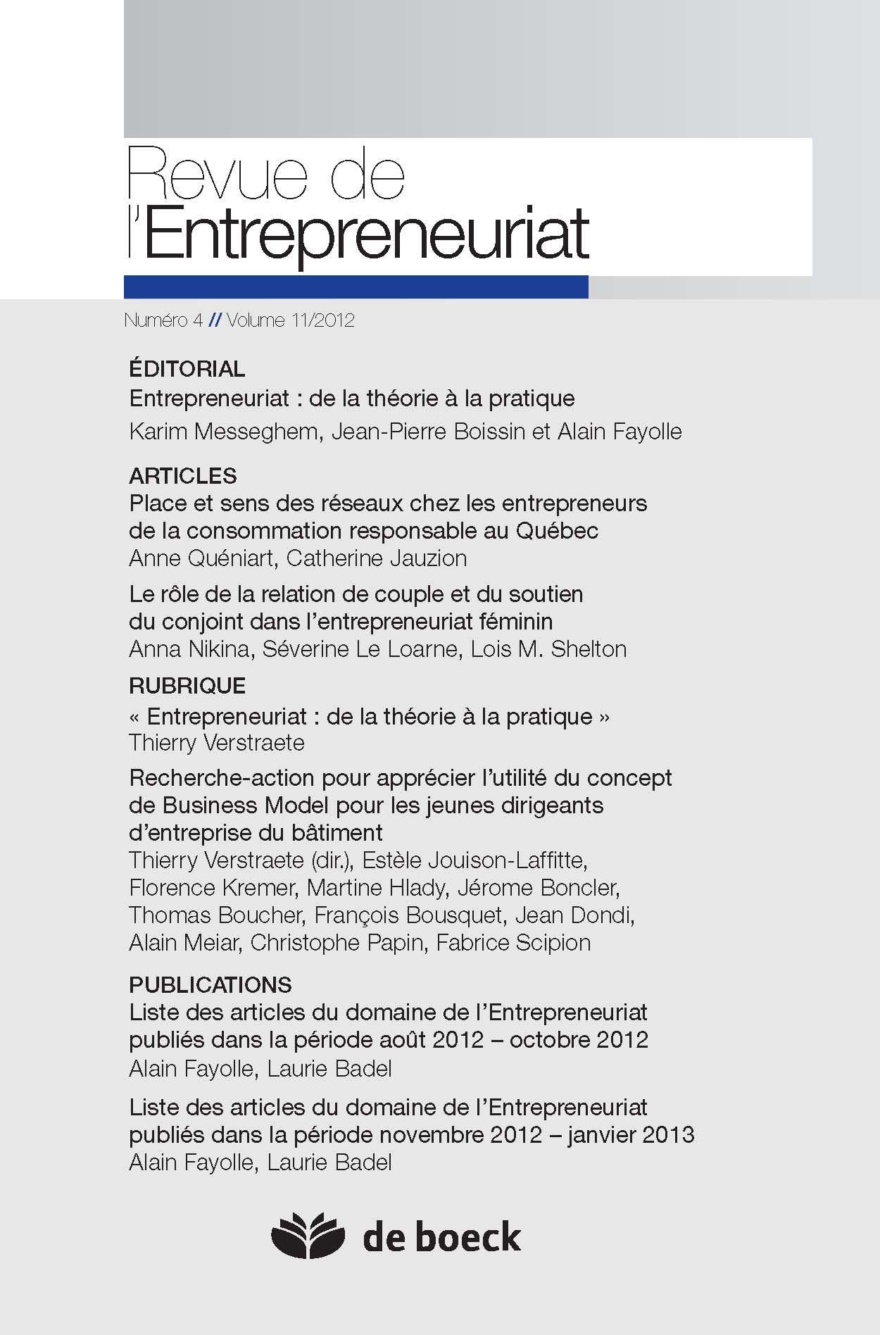 8713be39780 Le rôle de la relation de couple et du soutien du conjoint dans  l entrepreneuriat féminin