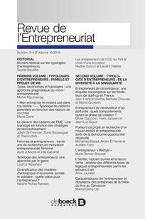 Revue Revue de l'Entrepreneuriat 2016/3 | Cairn.info