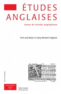 couverture de Text and Music in Early Modern England
