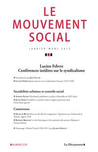Special Conference by Lucien Febvre on Trade Unionism