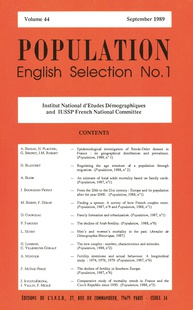 Population: English Selection No. 1