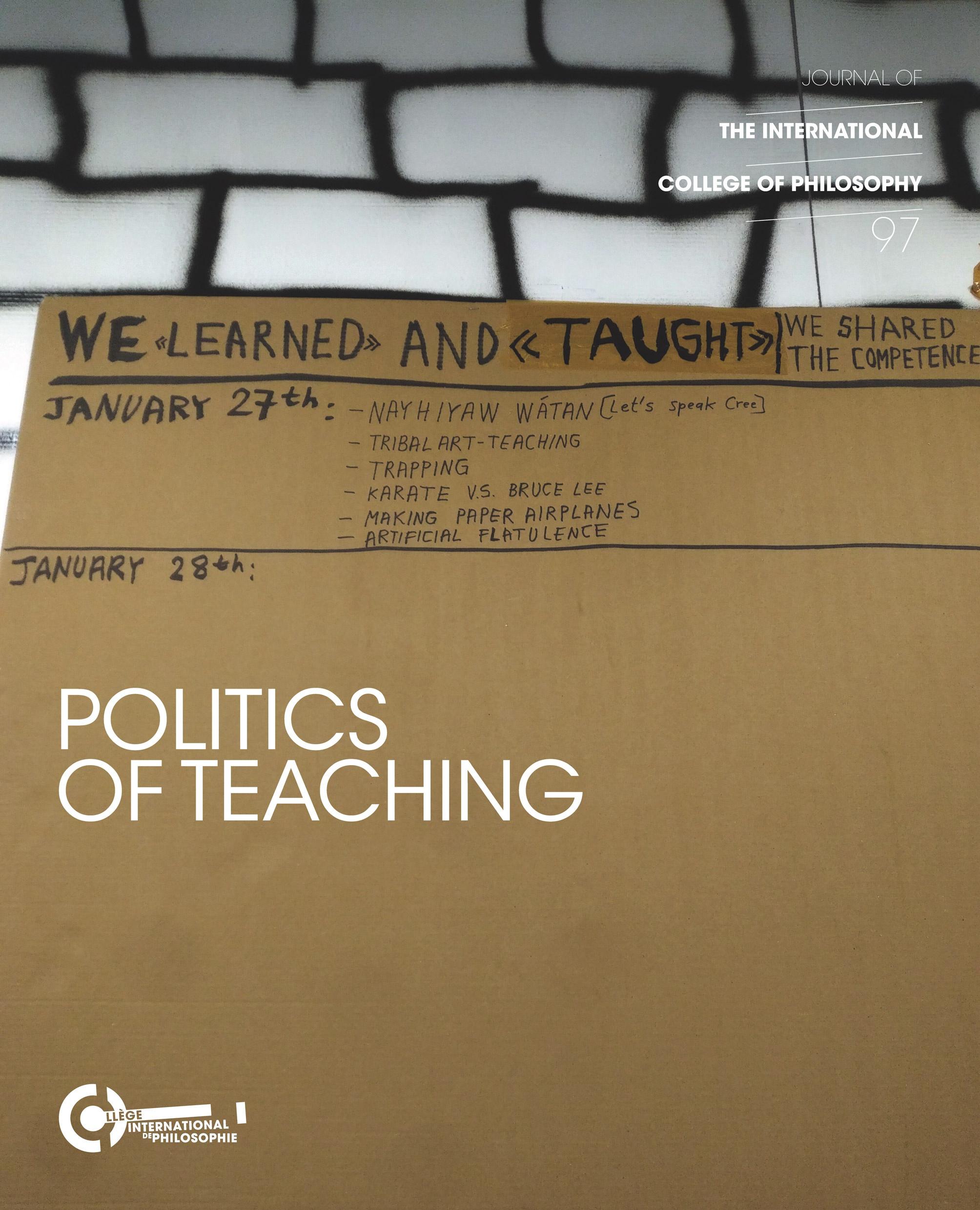 Politics of teaching