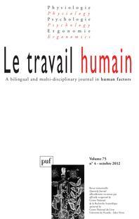 Le Travail Humain 2012/4