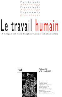 Le Travail humain 2013/2