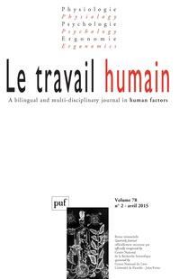 Le Travail Humain 2015/2