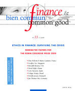 Finance & Bien Commun 2004/3