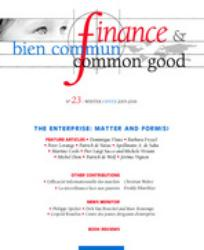 Finance & Bien Commun 2005/3