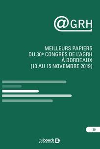 Meilleurs papiers du 30e congrès de l'AGRH à Bordeaux (13 au 15 novembre 2019)