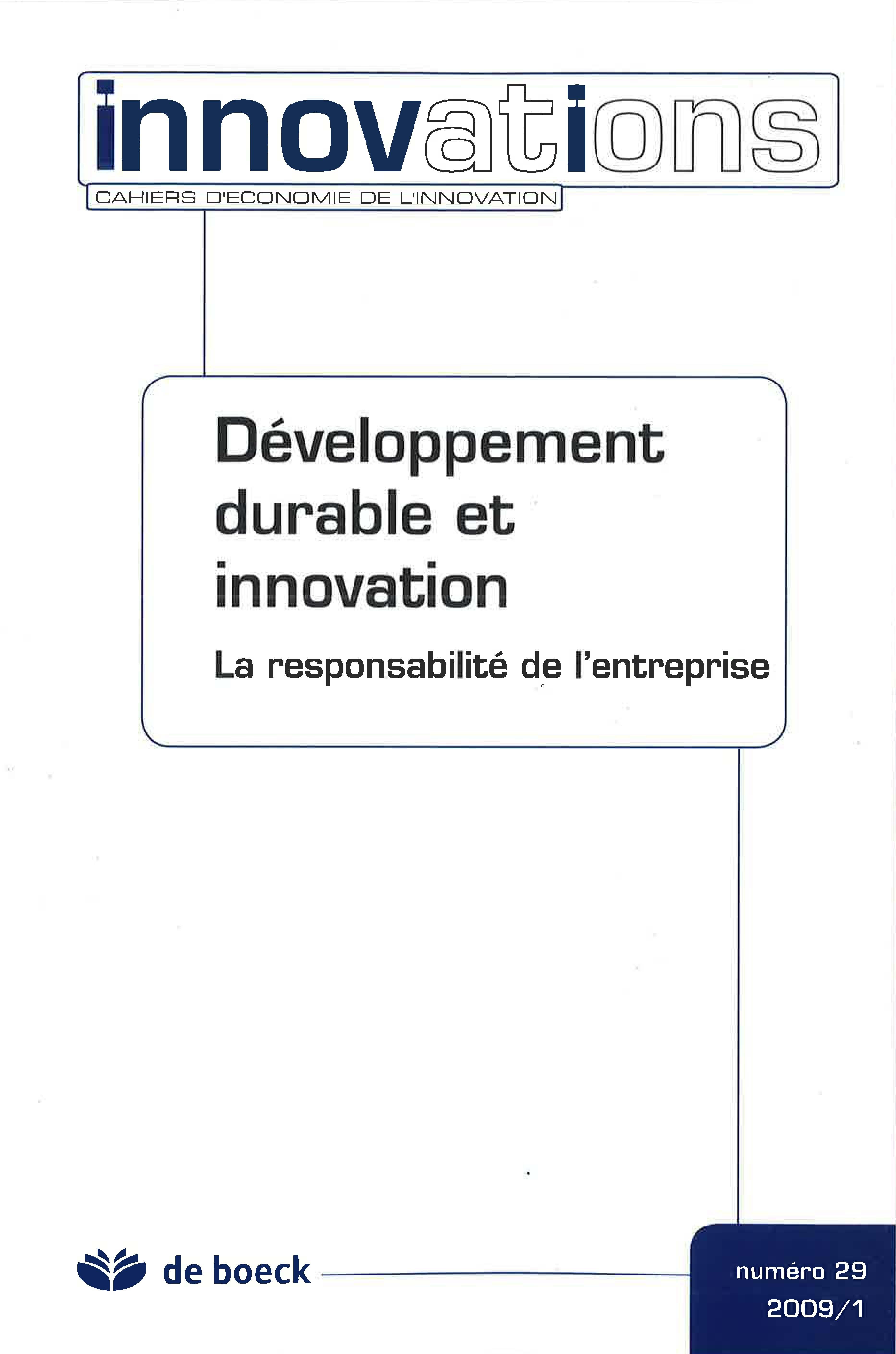 083ee75b92f098 Quelles politiques de l innovation et de l environnement pour quelle  dynamique d innovation environnementale     Cairn.info