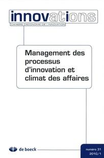 Management des processus d'innovation et climat des affaires