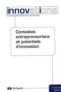 Contextes entrepreneuriaux et potentiels d'innovation