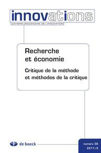 Recherche et économie. Critique de la méthode et méthodes de la critique.