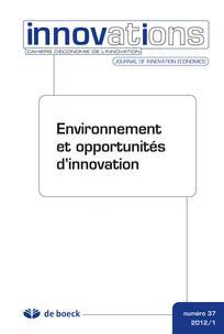 Environnement et opportunité d'innovation.