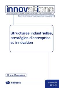 Structures industrielles, stratégies d'entreprise et innovation