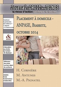 couverture de Placement à domicile - ANPASE, Biarritz, octobre 2014